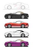 Replica car. — Stock Vector