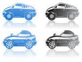 Sportovní vozy. — Stock vektor