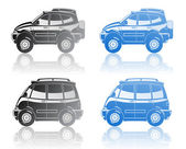 All-road vehicle and minivan — 图库矢量图片