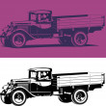 Vintage truck — Stock Vector