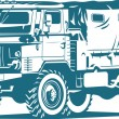 Royalty-Free Stock Vector Image: Military truck
