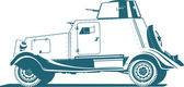 Vintage armored car — Stock Vector