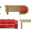 Royalty-Free Stock Vector Image: Set of furniture