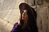 Girl in a hat — Stock Photo