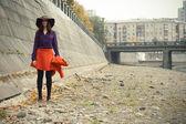 Mode meisje — Stockfoto