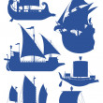 Постер, плакат: Sailing ships