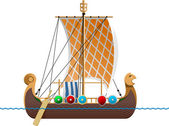 Viking ship — Stock Vector