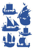 Sailing ships — Stock Vector