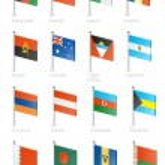 Flag icon set (part 1) — Stock Vector