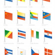 Flag icon set (part 3) — Stok Vektör