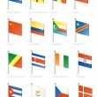 Flag icon set (part 3) — Imagen vectorial