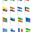 Flag icon set (part 4) — Vector de stock