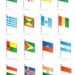Wektor stockowy : Flag icon set (part 5)