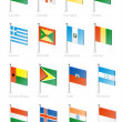 Flag icon set (part 5) — Vettoriale Stock #7557070