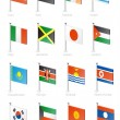 Flag icon set (part 6) — Vector de stock