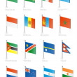 Stock Vector: Flag icon set (part 8)