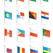 Flag icon set (part 9) - Vettoriali Stock