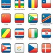 Flag icon set (part 3) — Vettoriali Stock