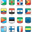Flag icon set (part 4) — Vettoriale Stock