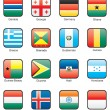 Flag icon set (part 5) — Vettoriale Stock #7557616