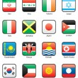 Flag icon set (part 6) — Vettoriale Stock