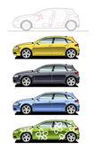 Hatchback(five door) — Stock Vector