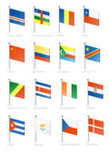 Flag icon set (part 3) — Vector de stock