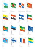 Flag icon set (part 4) — Stock Vector