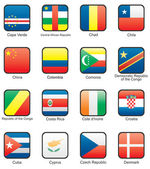 Flag icon set (part 3) — Wektor stockowy