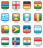 Flag icon set (part 5) — Wektor stockowy