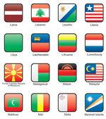 Flag icon set (part 7) — Stock Vector