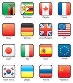 Flag icon set (part 13) — Stock Vector