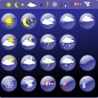 Weather icons — Stock Vector #7561947