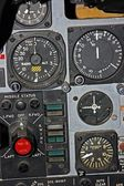 Part of Control Panel for Fighter Aircraft — Stock Photo