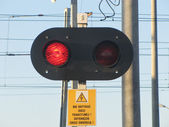 Signage - red light — Stock Photo