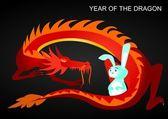 龙和兔 — 图库矢量图片