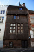 Old medieval wooden house in Bruges - Flanders - Belgium — Stock Photo