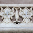 Stock Photo: A marble detail of the Agra Fort in Agra - India