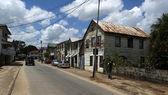 Street in center of Paramaribo in Surinam — Stock Photo
