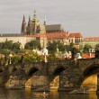 Prague Castle With Bridge — Stock Photo