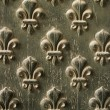 Royalty-Free Stock Photo: Fleur de Lis Pattern On Door