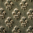 Fleur de Lis Pattern On Door — Stock Photo