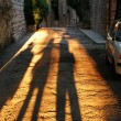 Stock Photo: Long Shadows in Assisi
