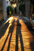 Long Shadows in Assisi — Stock Photo