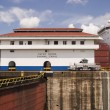Panama Canal With Ship — 图库照片
