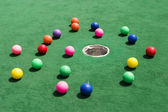 Balles de golf épars — Photo