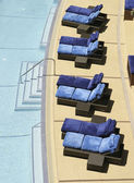 Chairs By Swimming Pool — Stock Photo