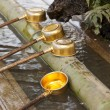 Stock Photo: Shinto Shrine Purification Ladles