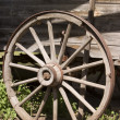 Antique Wagon Wheel - Stock Photo