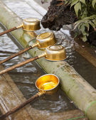 Shinto Shrine Purification Ladles — Stock Photo